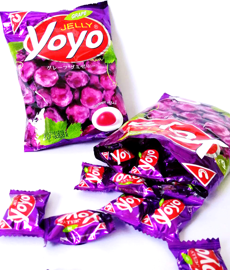grape jelly soft candy from Thai brand Yoyo