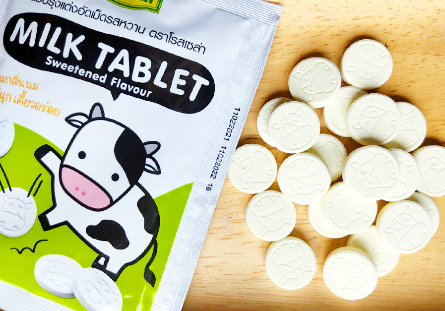 milk tablets healthy snack for thai kids